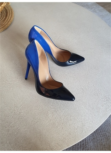 Topukla Ayakkabı Mavi